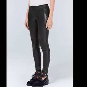 Aritzia Faux Leather Rebelle Leggings